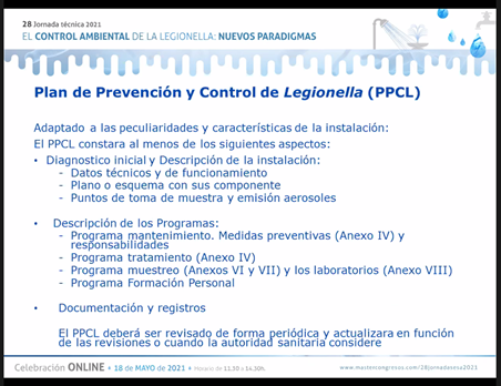 IX Congreso de Legionella y Calidad Ambiental. IX Congreso de Legionella y Calidad Ambiental. Novedades del NUEVO DECRETO LEGIONELLA